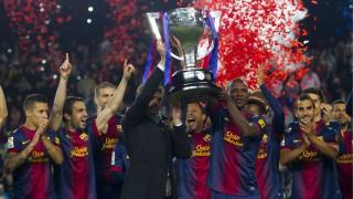 Tito Vilanova y la plantilla del FC.Barcelona celebran el título de Liga BBVA (Temp. 2012/13)