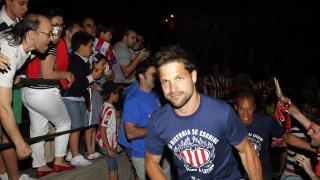 Diego, feliz tras conseguir la Liga BBVA
