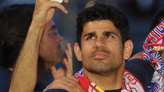 Diego Costa también disfrutó de la fiesta con el resto de la plantilla.