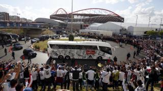 Así llegó el Real Madrid al Estádio do Sport Lisboa e Benfica