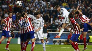 Sergio Ramos marca el primer tanto del Real Madrid