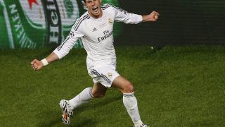 Gareth Bale celebra el segundo gol del Real Madrid