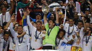 El Real Madrid celebra el título de la Champions