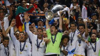 El Real Madrid celebra el título europeo