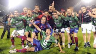 Toda la plantilla del Eibar festejó su ascenso a la Liga BBVA