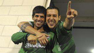 Kijera (izq.) y Urko Vera (der.), felices tras el ascenso