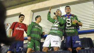 Los jugadores del Eibar celebran el ascenso a la Liga BBVA