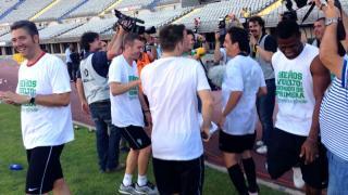 Máxima felicidad en los rostros de los jugadores del Córdoba tras el partido
