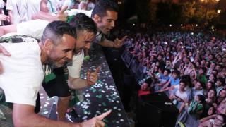 Abel, López Garai e Iago Bouzón no escondieron su felicidad