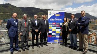 El Deportivo de la Coruña estuvo acompañado por Javier Tebas, presidente de LaLiga, durante su estancia en Colombia.