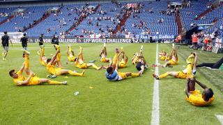 Tras visitar Australia, el cuadro malagueño se dirigió a Alemania, donde jugó ante Newcastle United FC y West Ham United FC en el estadio de Gelsenkirchen.