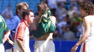 Xavi, durante sus inicios en la selección