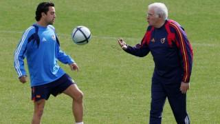 Xavi y Luis Aragonés, dos referencias de la selección española