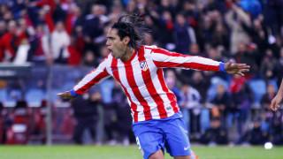 Radamel Falcao celebrando un gol con el Atlético de Madrid