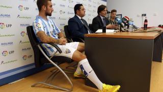 Rueda de prensa de la presentación de las medias de Sockatyes del Málaga CF