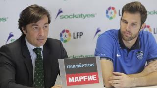 Jesús Fernández, jugador del Levante UD en la presentación
