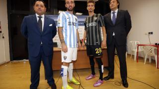 Representantes de la LFP y el Málaga CF en la presentación