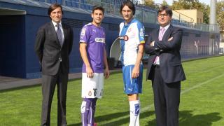 Representantes de la LFP y el RCD Espanyol en la presentación