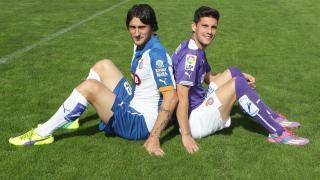 Colotto y Javi López, jugadores del RCD Espanyol