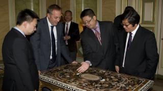 Visita de la delegación china al Palacio Liria