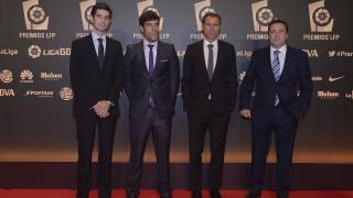 Delegación del D. Alavés en la alfombra roja de la 'Gala de los Premios LFP 2014'