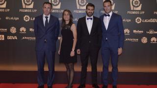 La delegación Athletic Club, en la alfombra roja en 'Gala de los Premios LFP 2014'