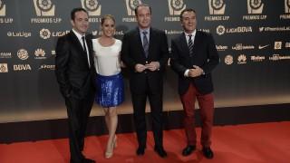 Presentadores de A3 Media, en la Alfombra roja en 'Gala de los Premios LFP 2014'