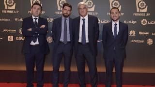 Clemente Villaverde, del Atlético de Madrid, en la 'Gala de los Premios LFP 2014'