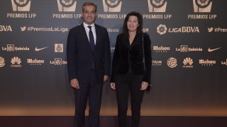 Ángel Cano, consejero delegado del BBVA y Cristina de Parias, directora de BBVA en España y Portugal