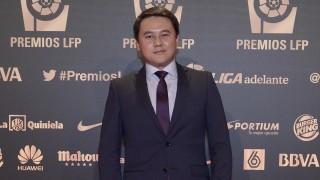 El presidente del CE Sabadell, Keisuke Sakamoto, en la 'Gala de los Premios LFP 2014'