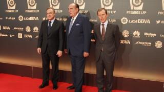 Florentino Pérez, Fernando Fernández Tapias y Emilio Butragueño, en la 'Gala de los Premios LFP 2014'