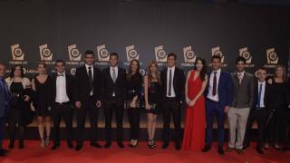 Los representantes del CD Leganés en la alfombra roja