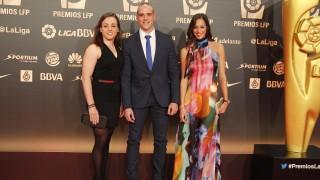 La luchadora Irene García en la alfombra roja en 'Gala de los Premios LFP 2014'