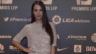 La actriz Nerea Garmendia, en la alfombra roja de la 'Gala de los Premios LFP 2014'