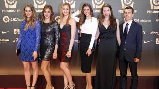 Representantes de Gimnasia Rítmica en la 'Gala de los Premios LFP 2014'