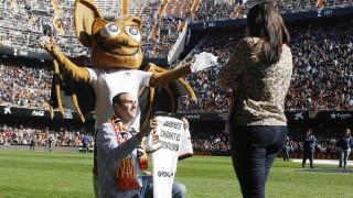 Mestalla y el fútbol fueron protagonistas de una futura boda