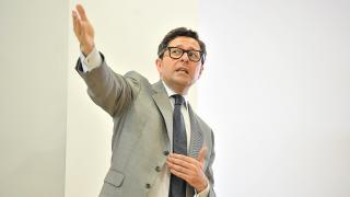 Manuel Quintanar, director de integridad de la LFP, durante un momento del curso