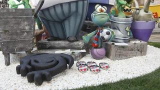 Las ranas del Levante protagonizaron imágenes curiosas