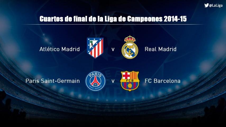 Habrá duelo español en cuartos de la Champions   Liga de ...