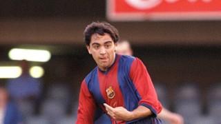 Xavi debutó contra el Valencia en la temporada 1998-99