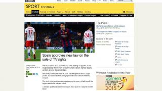 """BBC: """"España aprueba su nueva ley sobre la venta de derechos televisivos"""""""