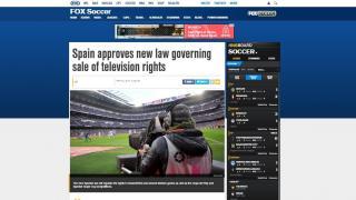 """FOX: """"España aprueba una nueva ley que rige la venta de derechos audiovisuales"""""""