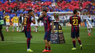 Los futbolistas del FC Barcelona disfrutaron de los actos de celebración por su título de campeón