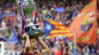 Xavi se despidió levantando la 23ª Liga BBVA del FC Barcelona