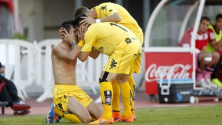 El gol de Sandaza en Mallorca permite al Girona depender de sí mismo para ascender