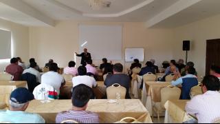 Javier Tebas ofreció una conferencia ante el Consejo Superior y el Comité Ejecutivo de la Liga de Fútbol Profesional Boliviano