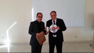 Fernando Humérez, presidente de la LPB, junto a Javier Tebas