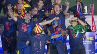 La alegría no se hizo esperar en el Camp Nou
