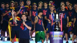 Lionel Messi también habló para el público culé