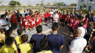 Los jugadores de LaLiga Promises conocieron detalles de Barranquilla